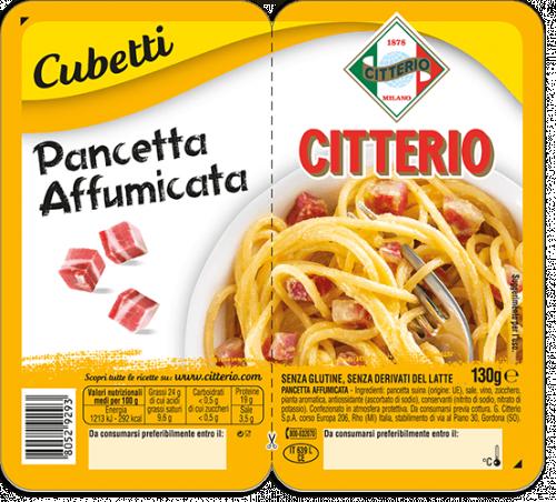 Pancetta Affumicata  Citterio Cubetti Bacon
