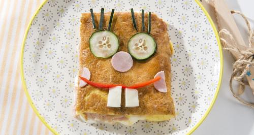 Omelette SpongeBob con prosciutto cotto