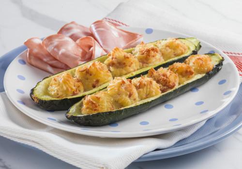 Barchette di zucchine ripiene di patate e Mortadella Bologna