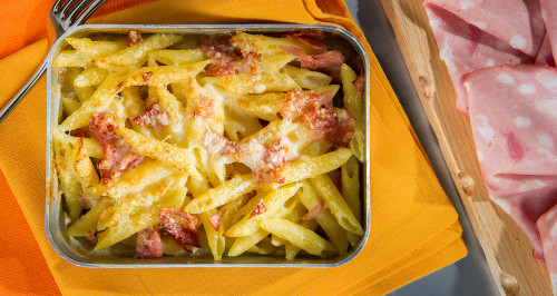 GRATIN WITH PENNE AND BOLOGNA