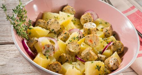 Kartoffelsalat mit roter Zwiebel und Wuoi? Werdure Mix
