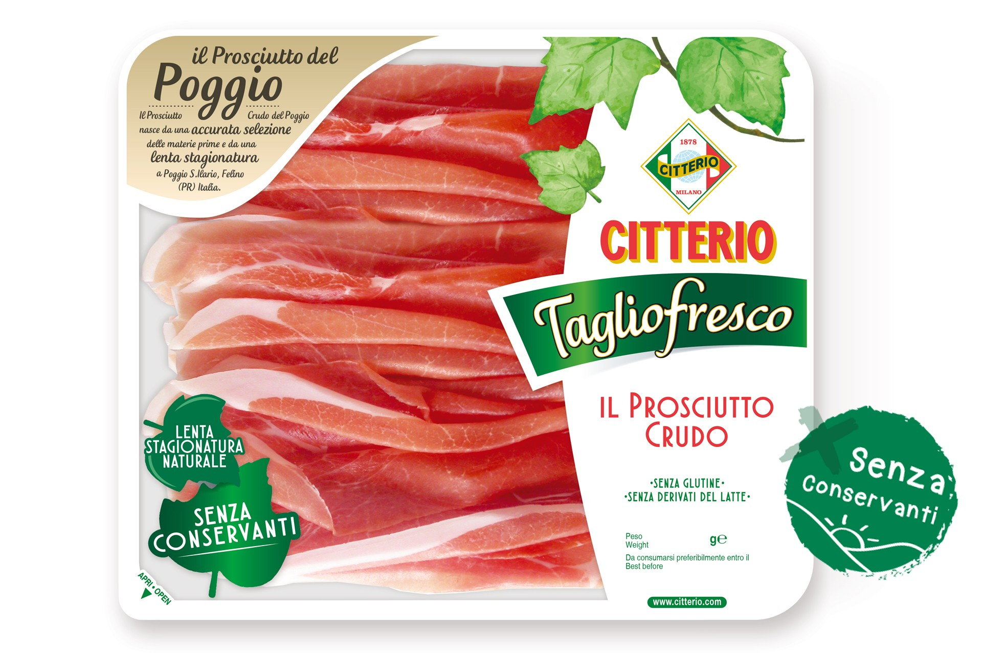 ALL OUR PROSCIUTTO CRUDO PRODUCTS ARE WITHOUT PRESERVATIVES