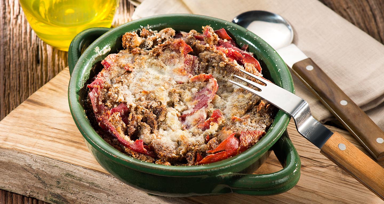Sopa coada con anatra e bresaola