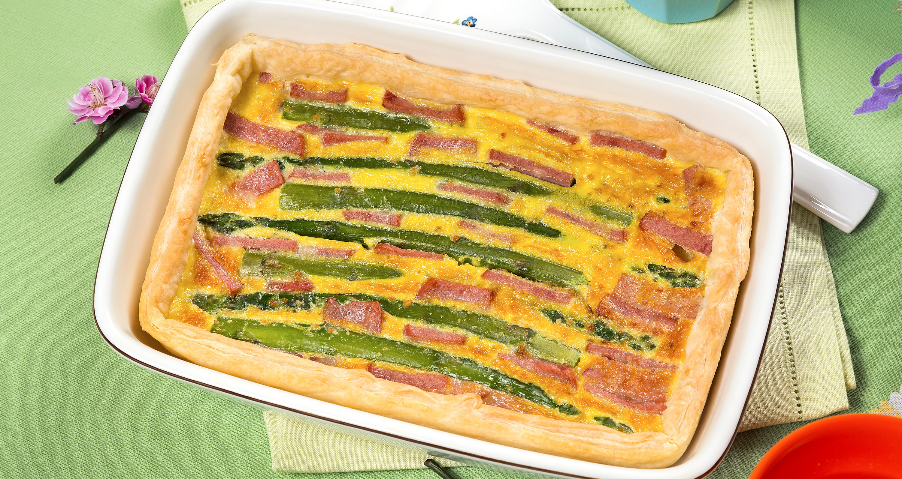 torta salata asparagi e mortadella